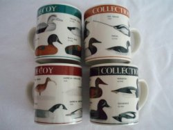 Ceramic Mugs Decoy Collection set of 4
