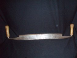 antique draw or mast shave log shave Cooper's tool