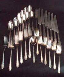 Reed and Barton silver plate flatware serve for 6