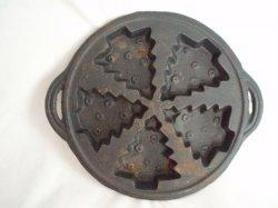Cast Iron Multi Christmas Tree Food mold