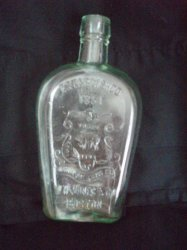 W. H. Jones 1851 Boston Whiskey Bottle Walking Bear