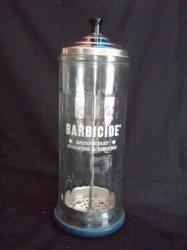 Barbicide Glass Disinfectant Jar Barber Shop Decor