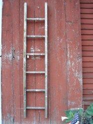 Wood Ladder Antique Rustic