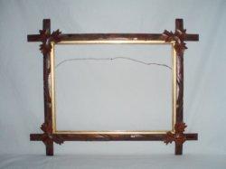 Antique Oak Leaf wood Frame Eastlake Victorian