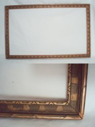 1940 Art Deco wood picture frame held a Maxfield Parrish