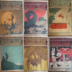 Antique Children's Educational Magazines Buddy-Books 6 Issues