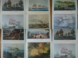 Our Navy in Action 12 vintage Prints 20 x 16