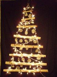 Handmade Birch Branch Wall Christmas Tree