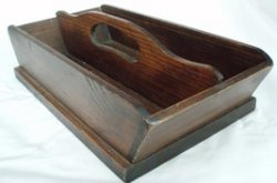 Cutlery Knife Flatware Tray Wood Utensil Tote