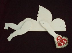 Valentine's Wood 37 inch Cupid Wood Silhouette Decor