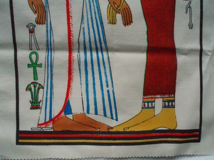 Image 3 of Tomb of Nefertari Egyptian Art Print on Cloth Isis & Queen