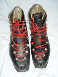 Vintage Grenoble Double Lace up leather Ski Boots