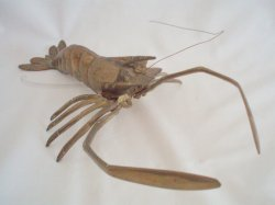 Brass Lobster Crawfish Figurine