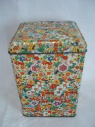 Collectible Floral Print Tin by Daher of England