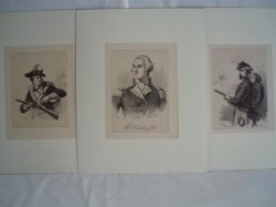 F. O. C. Darley 3 wood engravings of Revolutionary War