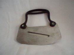 Food Chopper Metal single blade with Built in Slicer 1950's