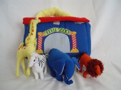 Baby's Vintage Soft Cloth Toy Set MY ZOO by Kubla Crafts