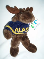 Arctic Circle Enterprise Moose 9 Plush Stuffed w/Alaska Sweater