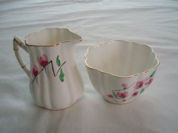 Cartwright & Edwards English Bone China Cream & Sugar