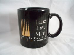 Ceramic Mug Lone Tree Mine Santa Fe Pacific Gold Corp. 1990s