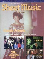 Sheet Music Magazine Jan/Feb 1997  Connie Francis  Les Paul