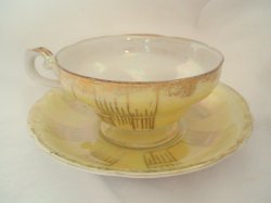 Royal Sealy Porcelain Tea Cup and Saucer Lusterware