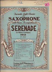 Favorite Light Classics for Saxophone with Piano Accompaniment Serenade