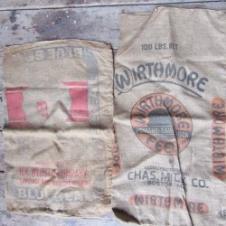 Burlap Grain Sacks Vintage