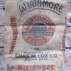 '.Burlap Feed Bag Wirthmore.'