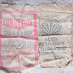 Burlap Grain Feed Sacks Vintage