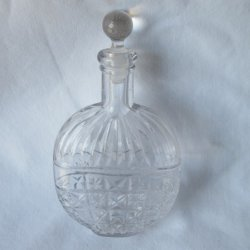Embossed flat 1800's Pumpkin Seed Flask A. Colburn Co.