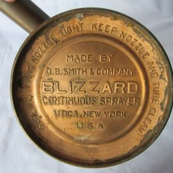 '.D B Smith Blizzard Sprayer.'