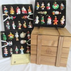 Thomas Pacconi Crate 36 Pc. 2002 Christmas Ornaments