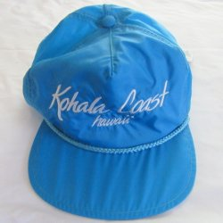 Ripstop Waterproof Azure Blue Hawaiian Cap Hat