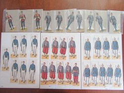 Antique Paper Toy Soldiers 4 Sets by McLoughlin