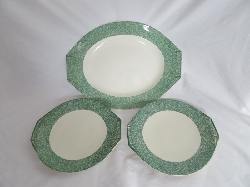 & J and G Meakin China Florida Sol Serving Platter and Plates