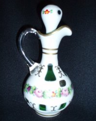 '.Egermann Czech Crystal Cruet.'