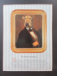Airedale Terrier Matted Print: The Fifth Earl of Hearsay T. Poncelet