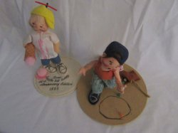 Annalee Dolls Ice Cream and Marbles Boy 1993 Collectible Figures
