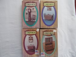 Chrysnbon Dollhouse Furinture 4 Kits Vintage 1:12 Scale