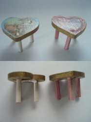 '.Dollhouse Child's Stools.'