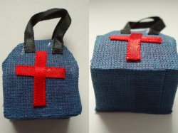 '.Dollhouse Nurse or Doctors Bag.'