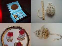Dollhouse Miniature Women's Bedroom Accessory Lot