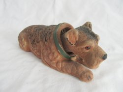 Airedale Terrier Vintage Bobblehead Nodder Dog by dabs of Japan