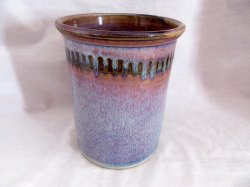 Purple Glazed Hand Thrown Pottery Crock Stoneware