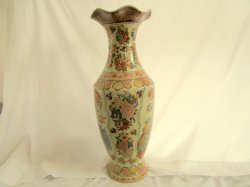 '.Oriental 2 ft Tall Vase.'