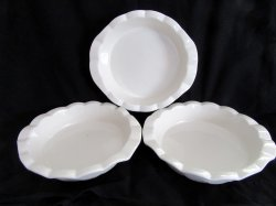Technique Stoneware Deep Pie Plates  HF144 White