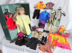 American Girl Doll (Just Like You), Case, and 6 Clothes Sets 1995