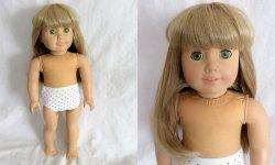 '.American Girl Doll Blonde w/gr.'
