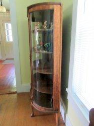 '.Antique Oak Curio Cabinet .'